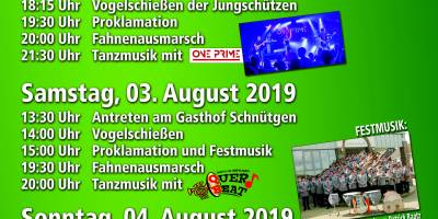 Schützenfest 2019 – 02. – 04.08.2019