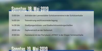 Fahrt zum Stadtschützenfest in Elspe 18.+19.05.2019