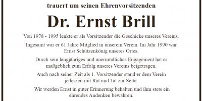 Nachruf Ehrenvorsitzender Dr. Ernst Brill